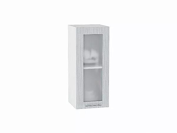 Шкаф верхний Валерия В300 со стеклом (серый металлик дождь)