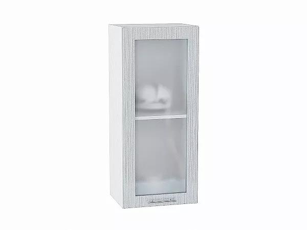 Шкаф верхний Валерия В409 со стеклом (серый металлик дождь)