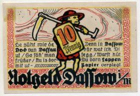 Германия. Нотгельд г. Дассов 10 пфеннигов 1922