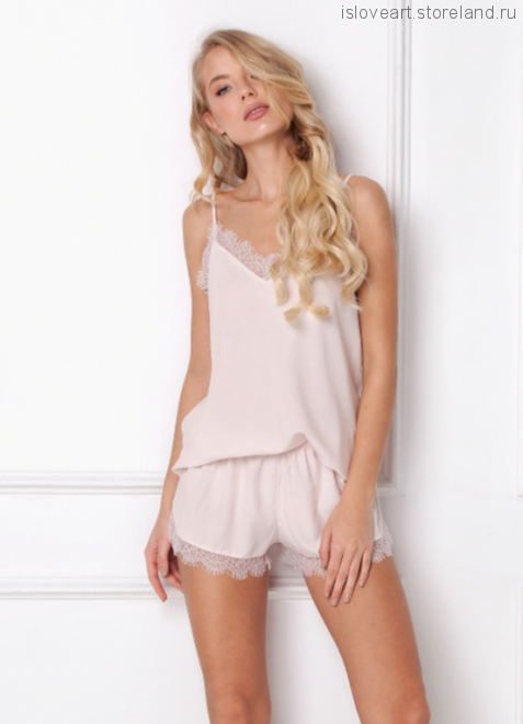 DANNY PINK Пижама женская с шортами XL, розовый