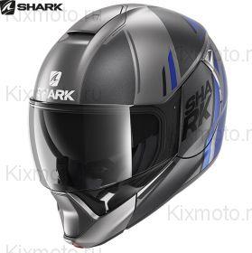 Шлем Shark Evojet Vyda Mat, Серый-синий