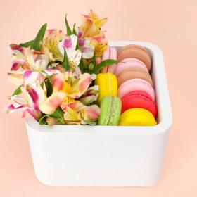 """Пенобокс 16×16×10 см кашпо для цветов и подарков """"Квадрат"""", белый Арт: 5525054"""