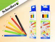 Набор цветных карандашей, 6 цветов, пластик. корп., 17,5 см., картонная коробка (арт. S 0019-6)