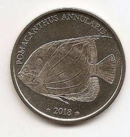 Ангел кольчатый(ангел аннулярис) 10 франков Западное Самоа 2018