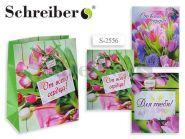 """Пакет подарочный бумажный """"Цветы"""", 32х26х13 см, 4 вида в ассортименте 127г (арт. S 2556)"""