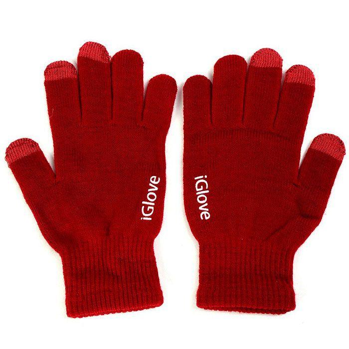 Перчатки iGlove для работы с сенсорными и емкостными экранами, цвет красный