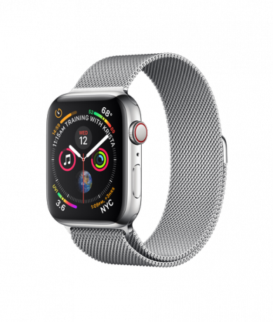 Apple Watch Series 4 GPS + Cellular 44mm Stainless Steel Milanese Loop