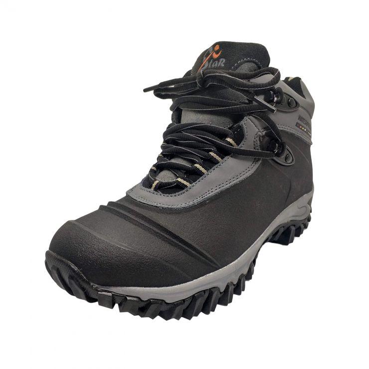 Ботинки треккинговые Стингер TRP-77-2 черн/серый