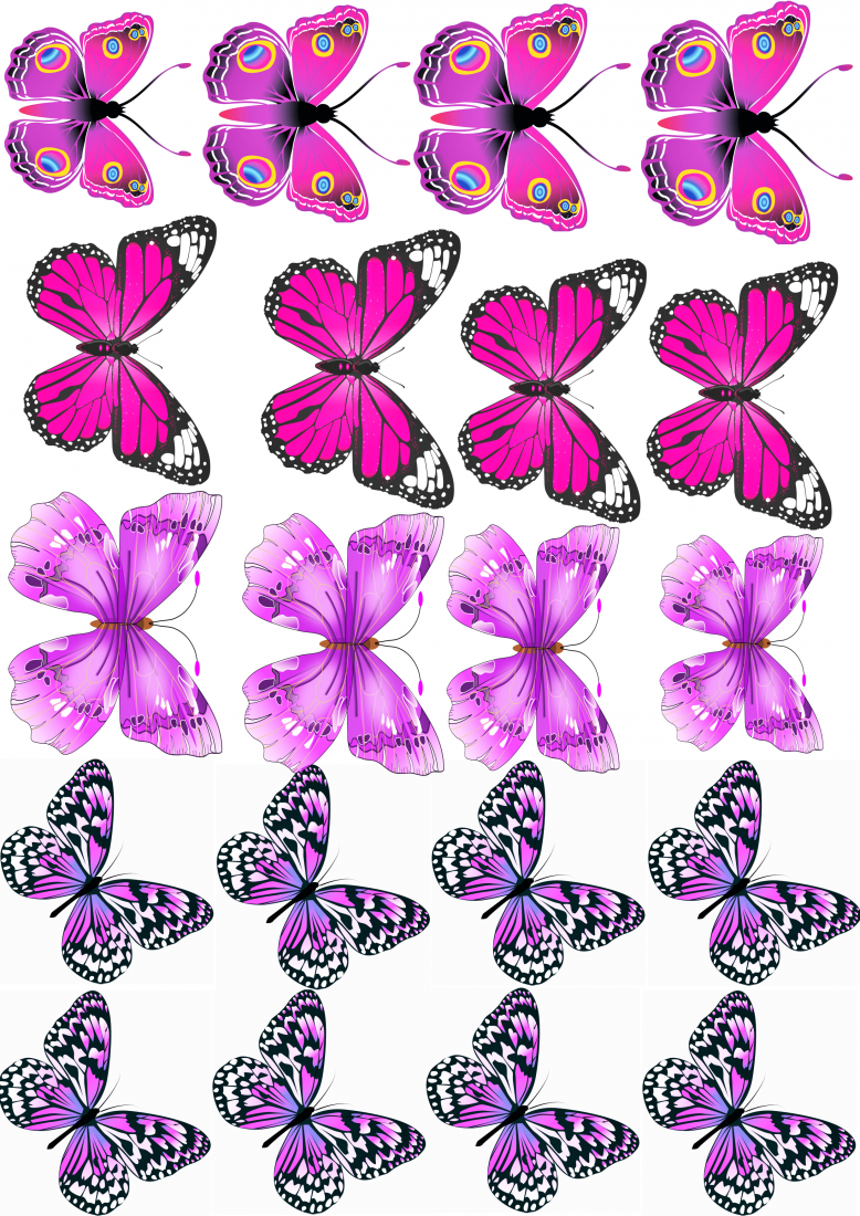 Вафельная картинка Бабочки  (7)