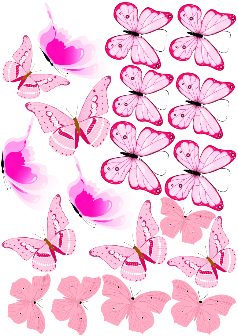 Вафельная картинка Бабочки  (9)