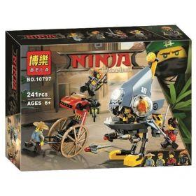 Конструктор Ninja Movie Нападение пираньи