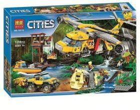 Конструктор City Вертолет для доставки грузов в джунгли