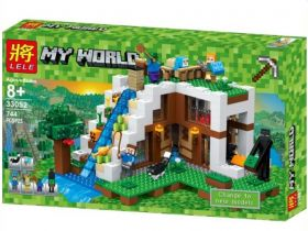 Конструктор Minecraft База на водопаде