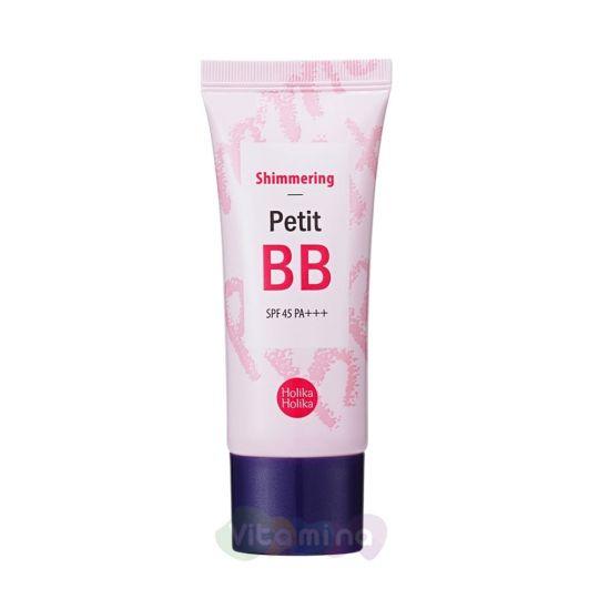Holika Holika Увлажняющий ББ крем с сияющим эффектом Petit BB Shimmering SPF45 PA+++