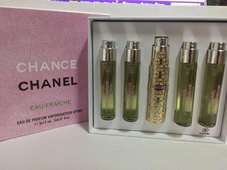 Набор парфюма  Chanel  Chance EAU FRAICHE 5*11ml