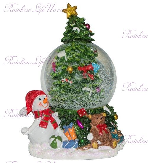 "Шар со снегом ""Снеговик с подарками"""