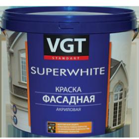 Краска Фасадная VGT ВД-АК-1180 3кг SuperWhite Супербелая, Акриловая