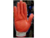 Перчатки нейлоновые с нитриловым покрытием (оранж)