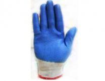 Перчатки нейлоновые с нитриловым покрытием (синяя)