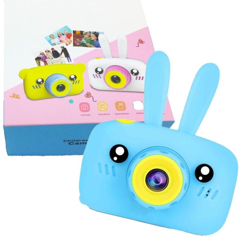 Детский цифровой фотоаппарат Зайчик, Голубой
