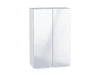 Шкаф верхний с 2-мя дверцами Фьюжн В609 в цвете Angel