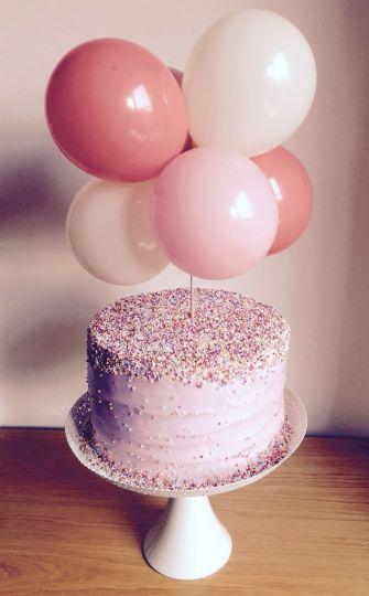 Малая гирлянда из шаров в торт