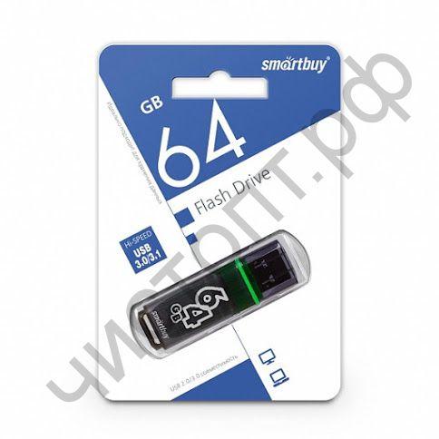 флэш-карта USB 3.0 Smartbuy 64GB Glossy series Dark Grey