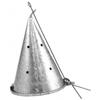 Кормушка зимняя Конус металл малая  (Н-10,5см, Д-7см)