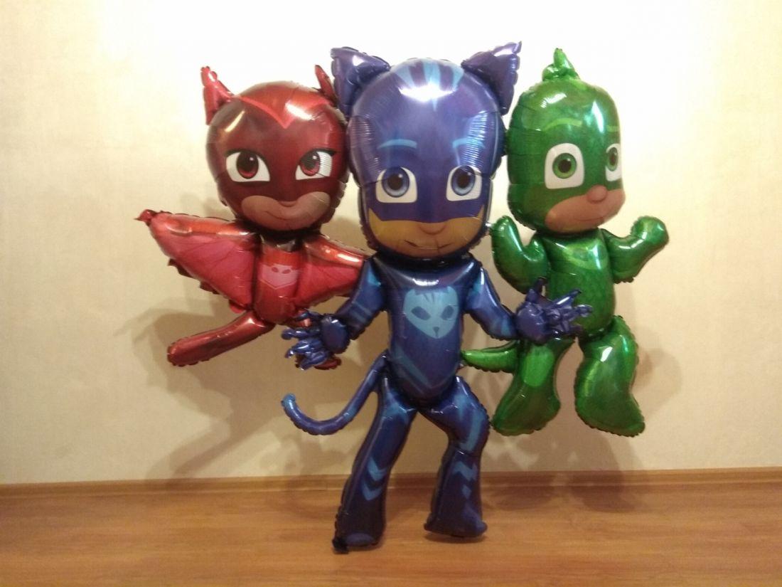 Герои в масках ходячий шар фольгированный с гелием