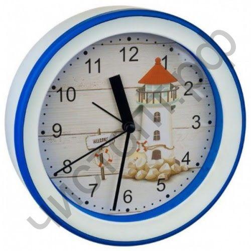 """Часы -будильник настол. Perfeo Quartz """"PF-TC-009"""", круглые диам. 15,3 см, подвес на стену, маяк"""