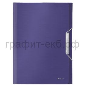 Папка А4 6 отделений на резинке Leitz Style синий титан 3957-00-69