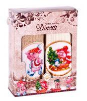 Подарочный набор вафельных полотенец (2шт) №0-75