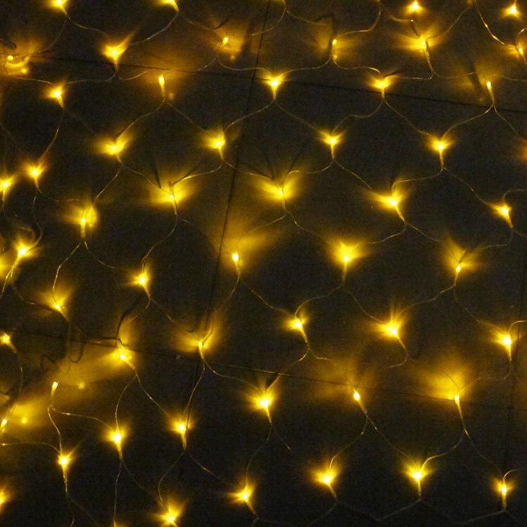 Электрогирлянда «Сетка» 200 LED, 1.5*2 м, цвет свечения белый теплый