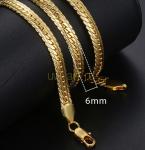Позолоченный браслет змейка с гравировкой, 19 см (арт. 250172)
