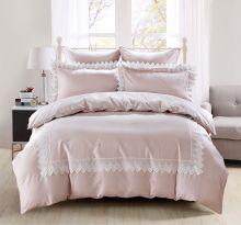 Комплект постельного белья  Сатин с вышивкой  NELI евро   Арт.5127/4