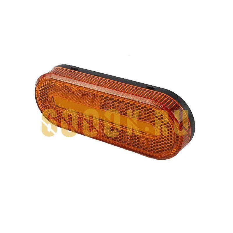 Светодиодный овальный габаритный фонарь для прицепа (оранжевый)