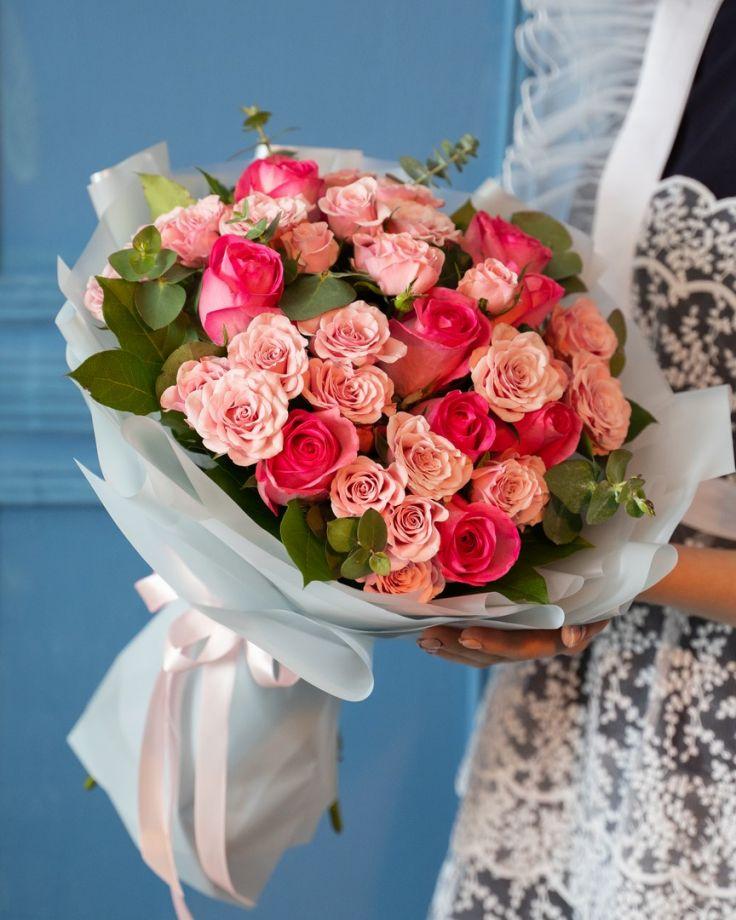 Букет на выпускной из роз