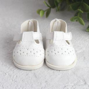 Обувь для кукол 6,5 см - сандалики белые