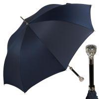 Зонт-трость Pasotti Ferro Silver Oxford Dark Blu