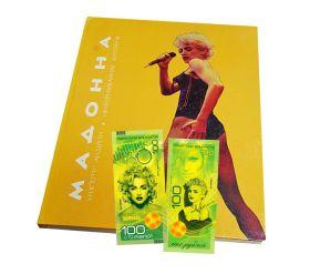 Мадонна: Неавторизованная биография + 100 рублей банкнота памятная