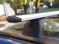 Багажник на крышу Subaru Forester II 2002-2008, Lux, крыловидные дуги на интегрированные рейлинги