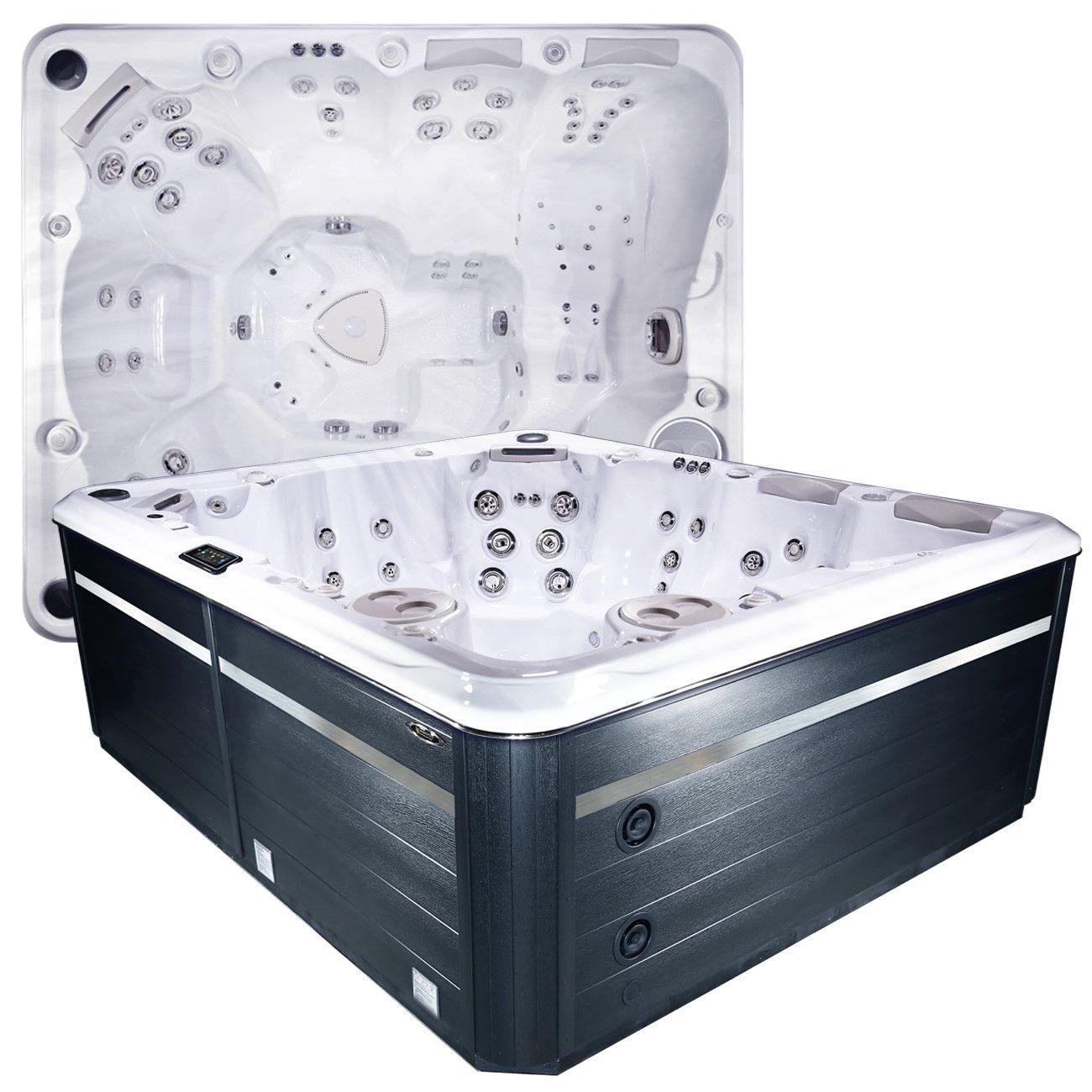 Гидромассажный бассейн с 70 форсунками Hydropool Self Cleaning 970 Titanium 239х279 ФОТО