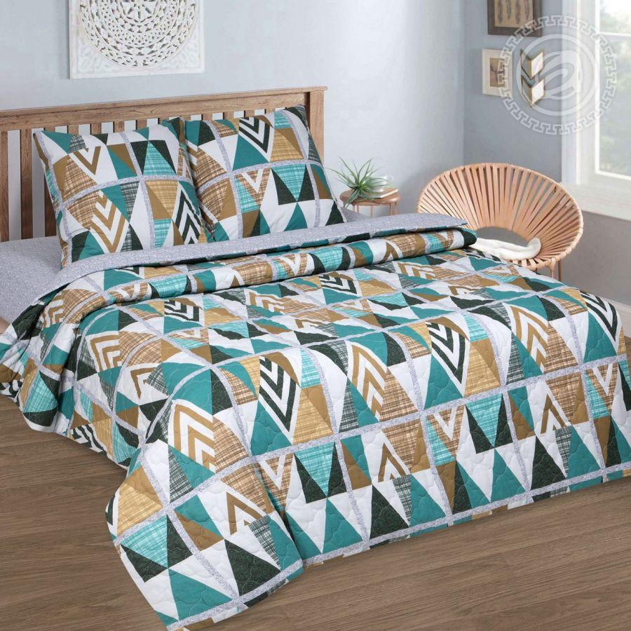 «Апачи» (Зима - лето) постельное белье Поплин 2-х спальный с евро