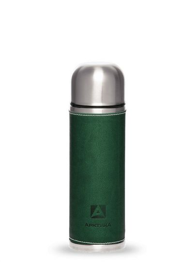 Термос АРКТИКА 108-700 зеленый в коже