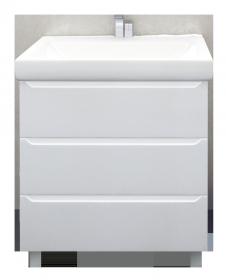 Тумба 1Marka Кода 80Н 3в.я. Белый глянец, МДФ