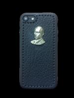 """Кожаный чехол-накладка  """"В.В.Путин"""" на iPhone"""