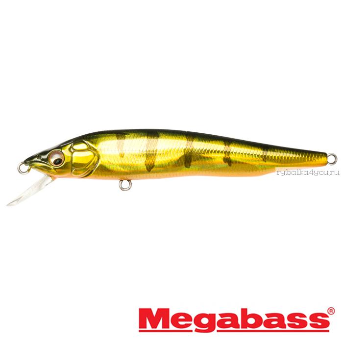 Воблер Megabass Vision 95Q-GO Slow Float 95мм / 9,8гр / Заглубление: 0,1 - 0,5 м / цвет: GG Kasumi Tiger