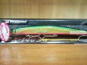 Воблер Megabass X-140 SW 140 мм / 19,5гр / Заглубление: 0,2 - 0,5 м / цвет: GG Blupin Gold (JM)
