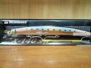 Воблер Megabass X-140 SW 140 мм / 19,5гр / Заглубление: 0,2 - 0,5 м / цвет: LZ Akahara Iwashi (JM)