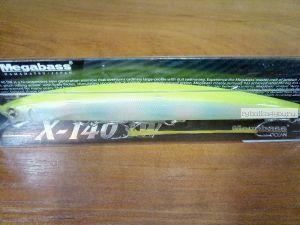 Воблер Megabass X-140 SW 140 мм / 19,5гр / Заглубление: 0,2 - 0,5 м / цвет: PM Rainbow CB (JM)